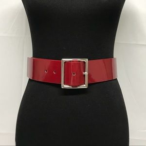 Other - Kenneth Cole red patent leather belt